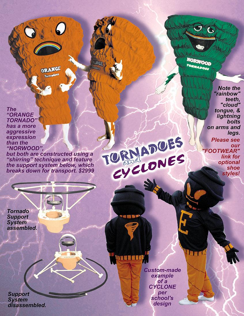 Facemakers Tornado Mascot Costumes