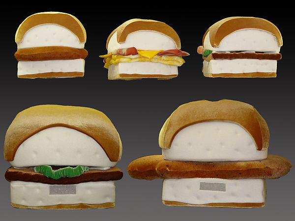 Facemakers White Castle Sandwich Mascot Costumes