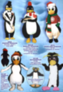 Facemakers penguin mascot costumes