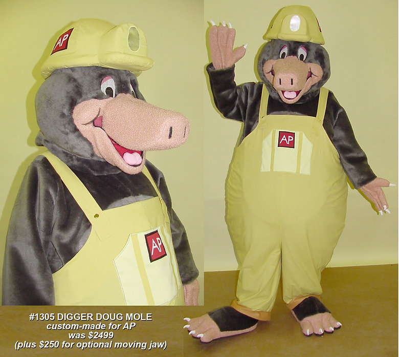 Facemakers Mole Mascot Costumes