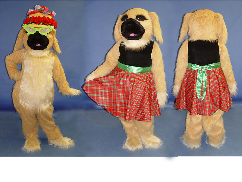 Facemakers Pekingese Mascot Costumes