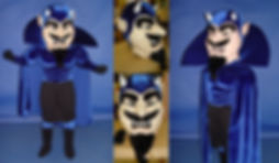 Facemakers Blue Devil Mascot Costumes