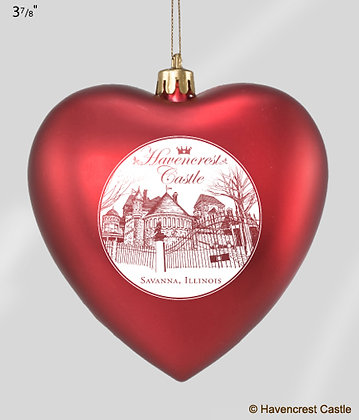 Havencrest Christmas Ornament, RED HEART
