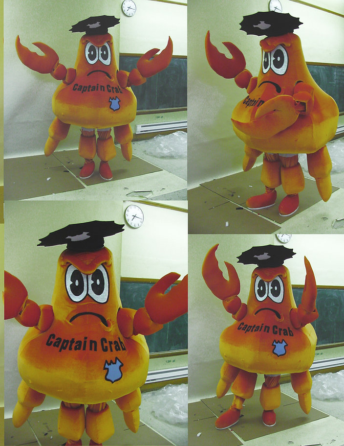 Facemakers Crab Mascot Costumes