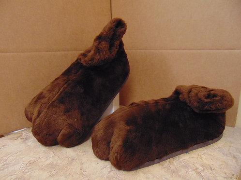 F3 Brown Plush Feet w/soles