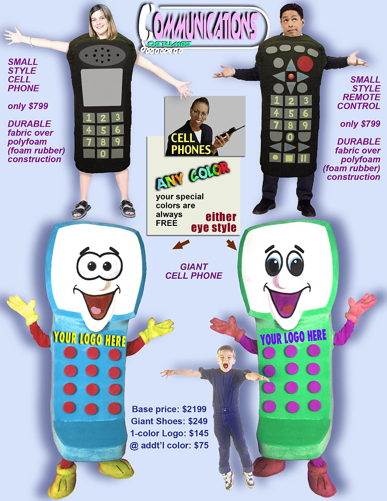 Facemakers Phone Mascot Costumes