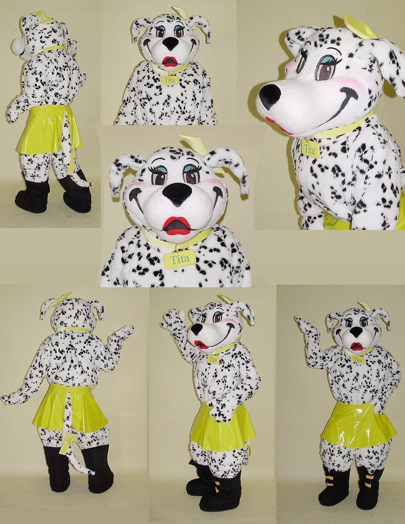 Facemakers Female Dalmatian mascot costumes