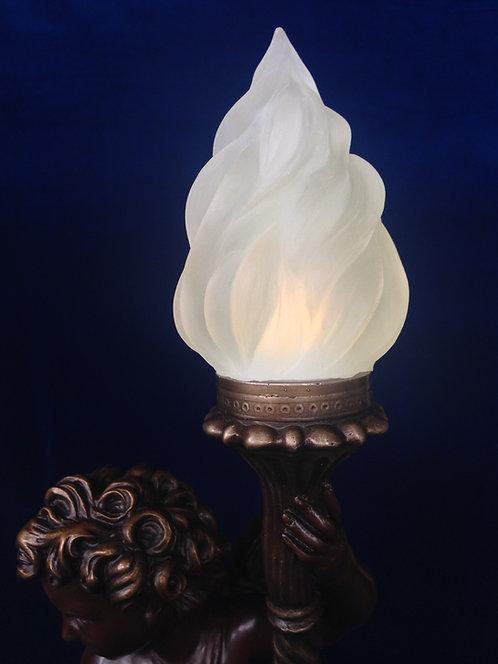 "Flame for 21"" cherub (resin)"