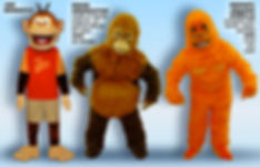 Facemakers Orangutan Mascot Costumes