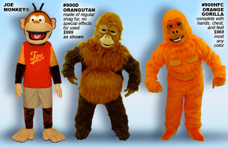Facemakers Orangutan Mascot Costumes