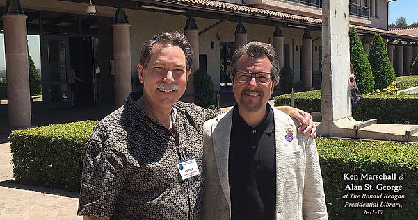 Titanic painter Ken Marschall, and Titanic sculptor Alan St George at the Ronald Reagan Presidential Library in Simi Valley, California