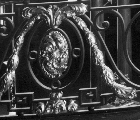 Detail of gilt ironwork