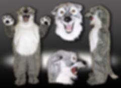 Facemakers Husky Mascot Costumes