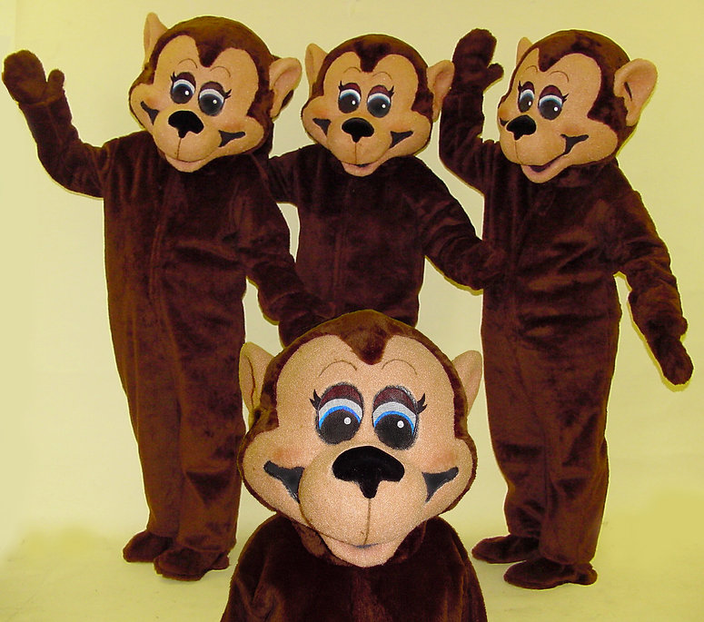 Facemakers Monkey mascot costume