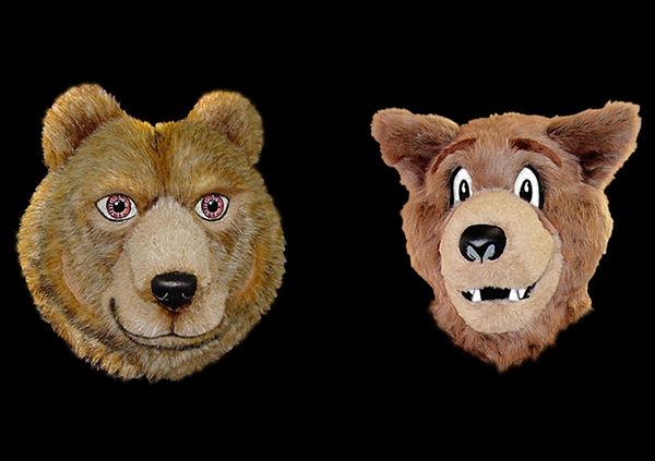 Facemakers Gentle Bear Mascot Heads