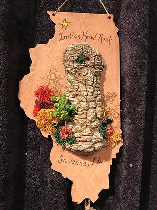 Indian Head Rock Plaque