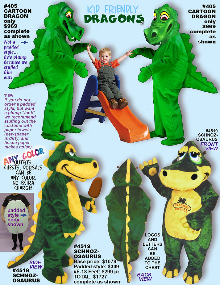 Facemakers Dragon mascot costumes