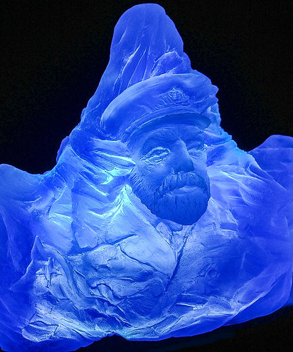 Nightlight blue iceberg
