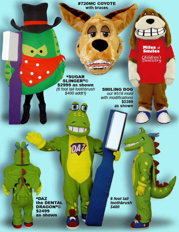 Facemakers Dentistry Mascot Costumes