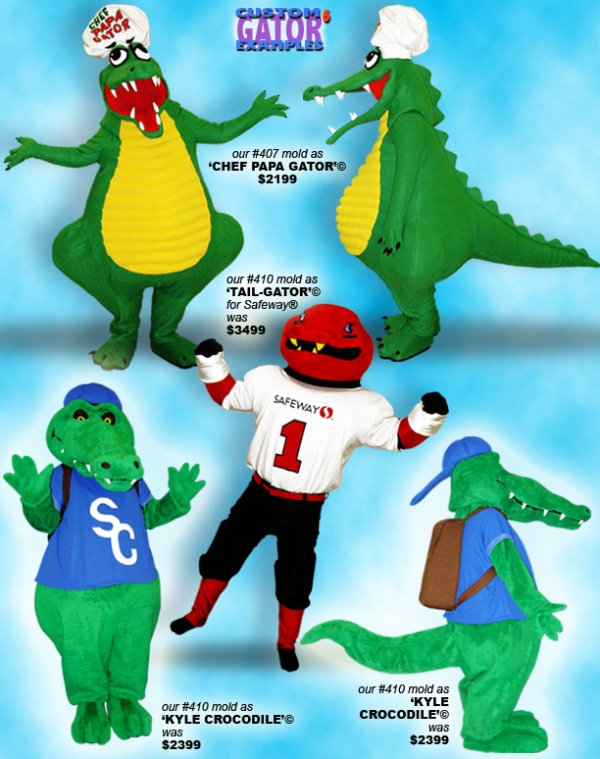 Facemakers Gator Mascot Costumes