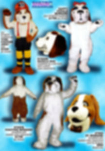 Facemakers St Bernard Dog Mascot Costumes