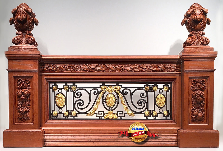 Grand Staircase balustrade replica brings back the elegance of Titanic's Edwardian age.