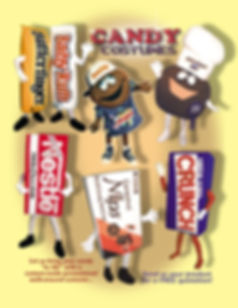 Facemakers Candy Mascot Costumes