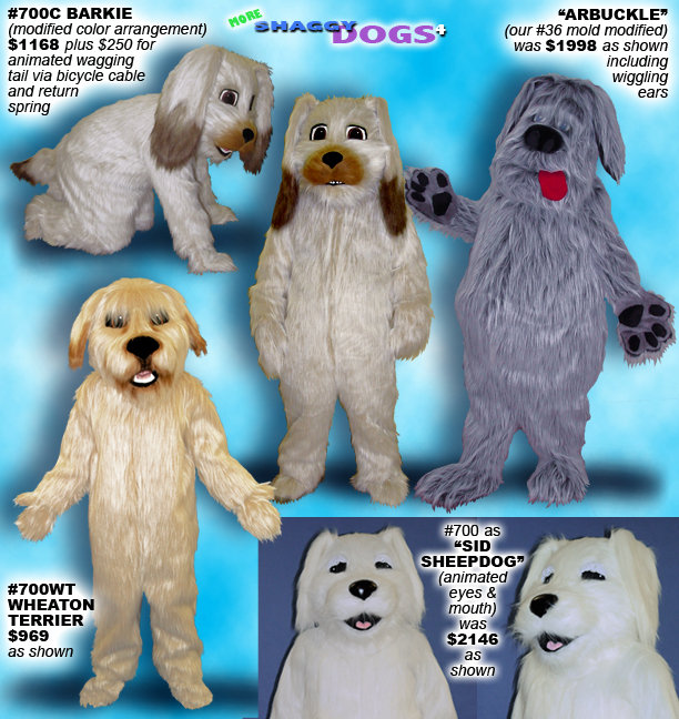 Facemakers Dog Mascot Costumes