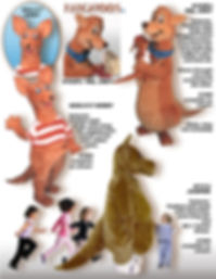 Facemakers Kangaroo Mascot Costumes