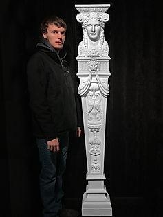 Titanic Dining Saloon goddess caryatid by sculptor Alan St George