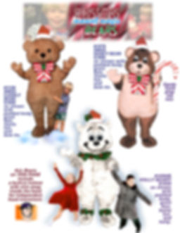 Facemakers Xmas bear mascot costumes