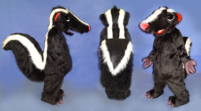 Facemakers Skunk Mascot Costumes