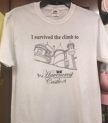 """I survived the climb"" T-shirt"