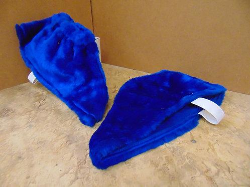 Blue Plush Spats
