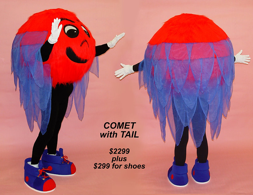 Facemakers Comet Mascot Costumes