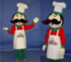 Facemakers Chef Mascot Costumes