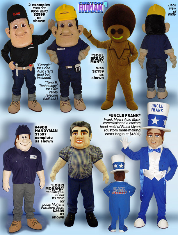 Facemakers Workman Mascot Costumes