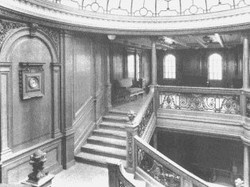 The aft staircase