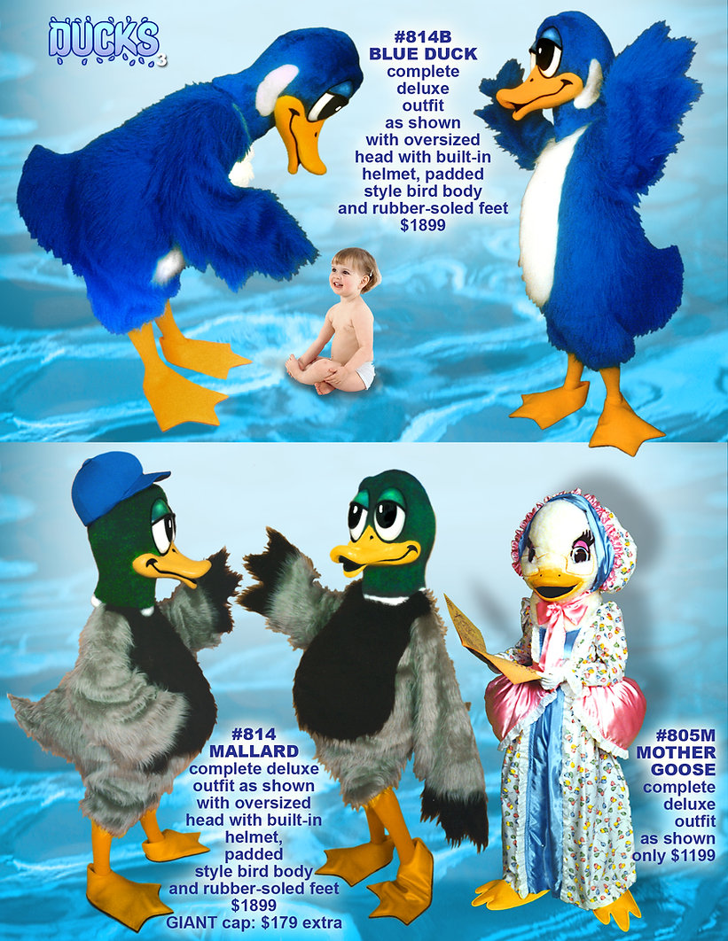 Facemakers Mallard Duck Mascot Costumes