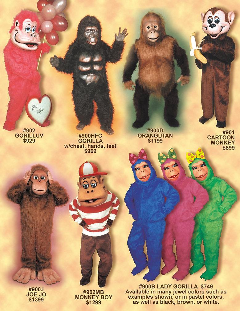 Facemakers Gorilla mascot costumes