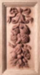 Each side of the Titanic cherub pedestal has a different grouping of fruits, vegetables, and flowers as on the original RMS Titanic/Olympic.