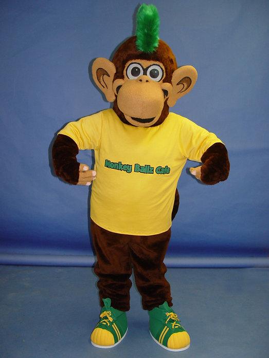 Facemakers custom-made Monkey Ballz mascot costume
