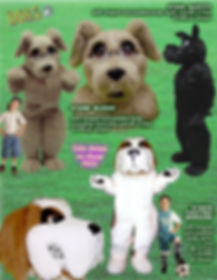 Facemakers Cute Dog Mascot Costumes