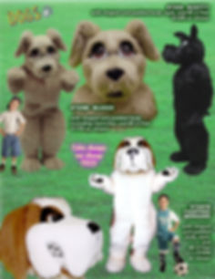 Facemakers Fighting St Bernard Dog mascot costumes