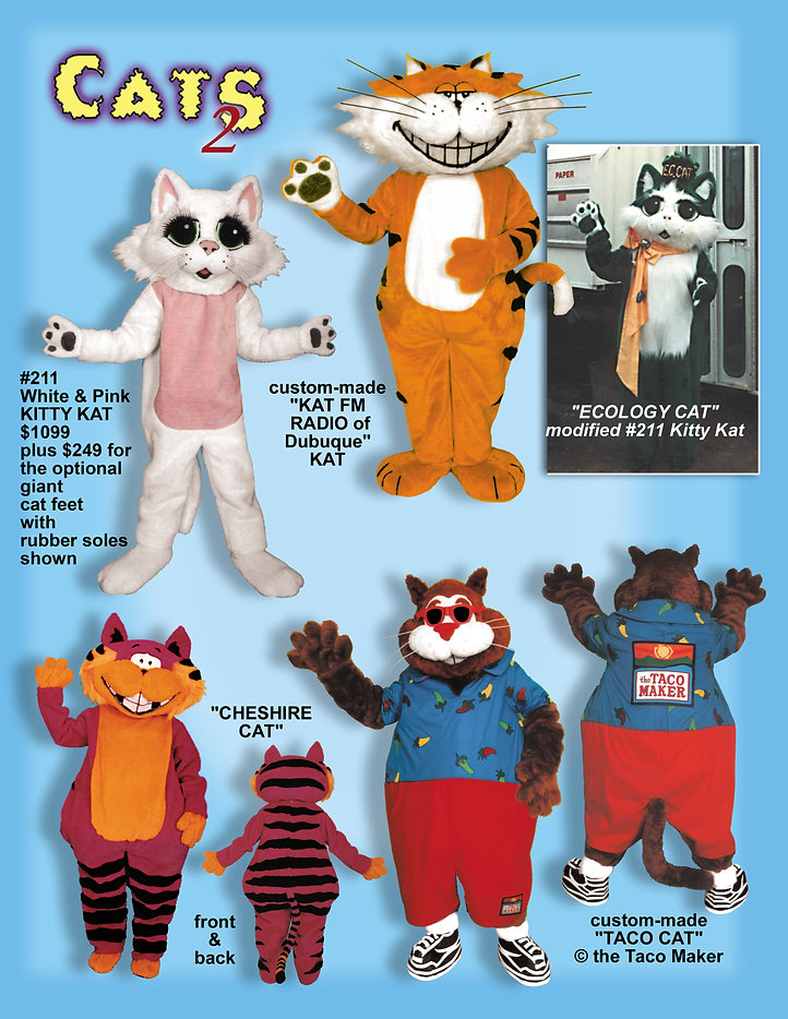 Facemakers Cat mascot costumes