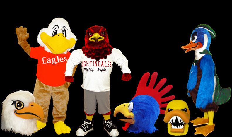 Facemakers bird mascot costumes