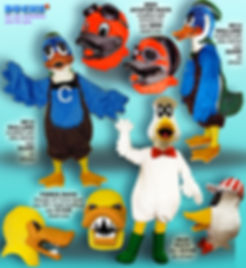 Facemakers Duck Mascot Costumes