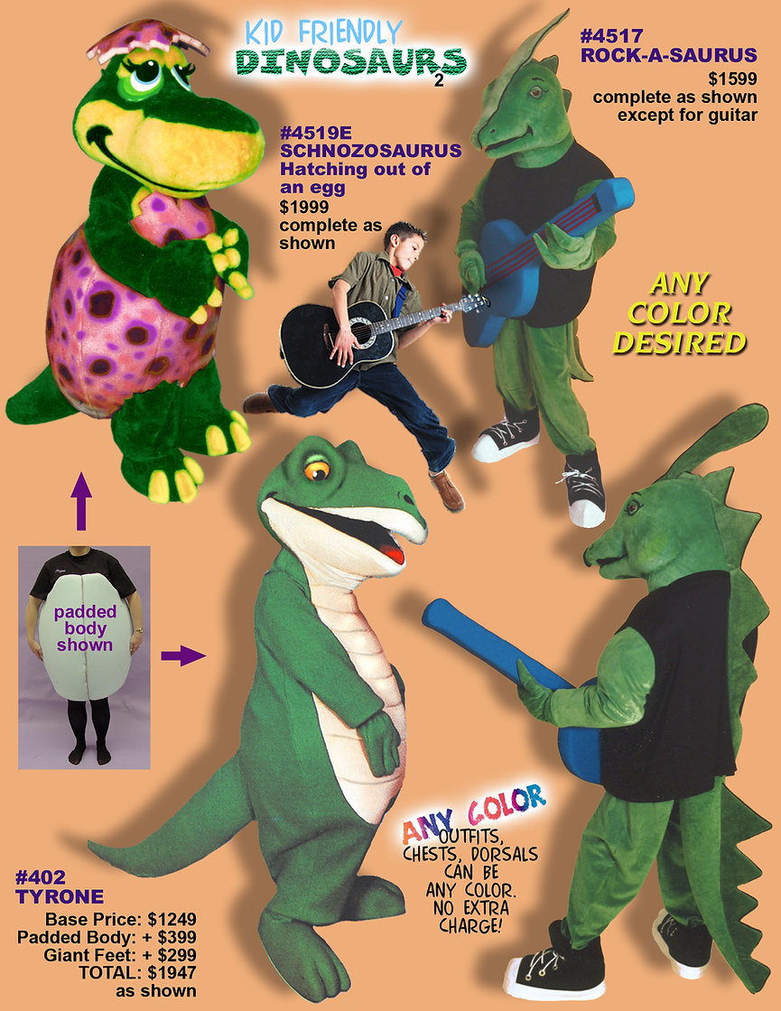Facemakers Dinosaur mascot