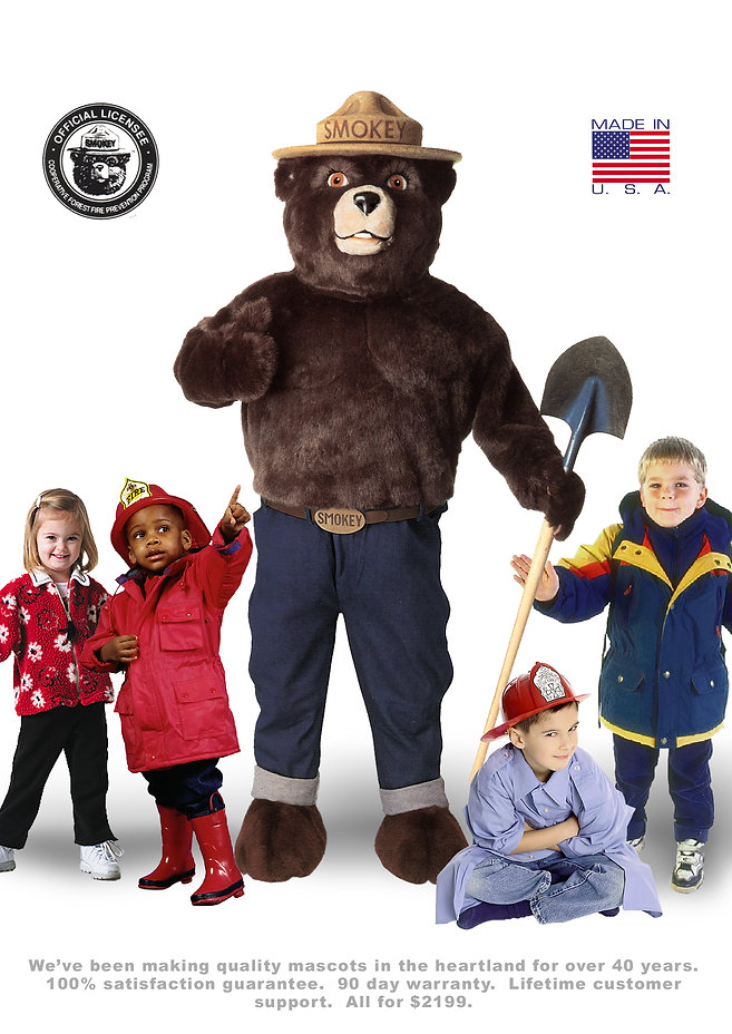 Facemakers Smokey Bear official costume