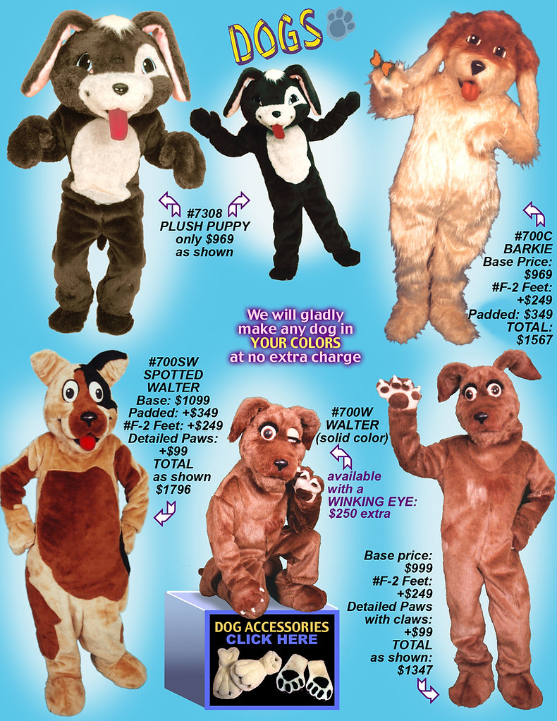 Puppy Dog mascot costumes